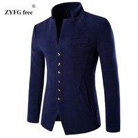 Mens 2017 Velvet Blazer New Fashion Slim Fit Suit Jacket Plus Size 3 Color Single Button