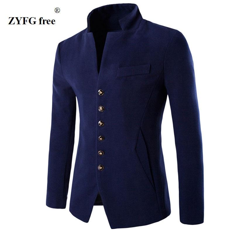 Férfi 2018 bársony blazer öltöny új divat Slim fit kabát 3 színes egy gombos kabát alkalmi stílusú őszi téli ruházat
