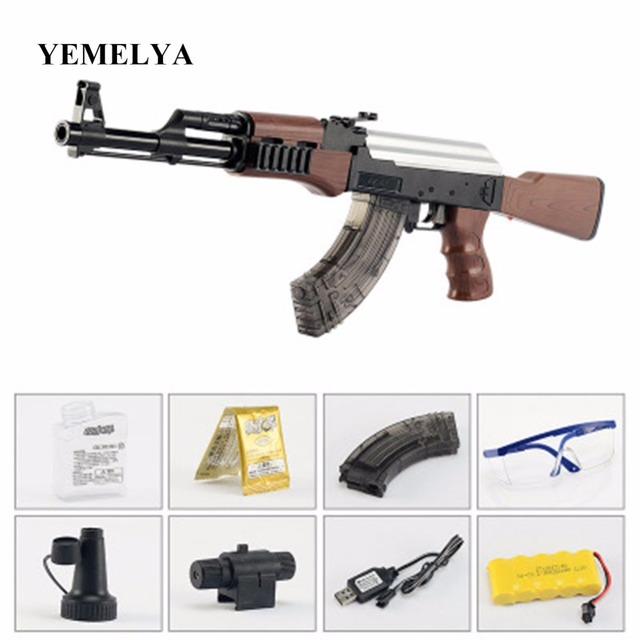 mini ak47 for water bullet gun outdoor cs war gun children s toy gun