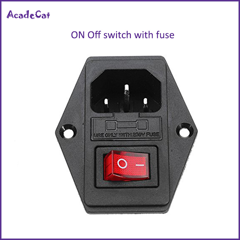 Free shipping ON/OFF switch Socket with female plug for power supply cord Jamma arcade machine IO switch with Fuse(China)