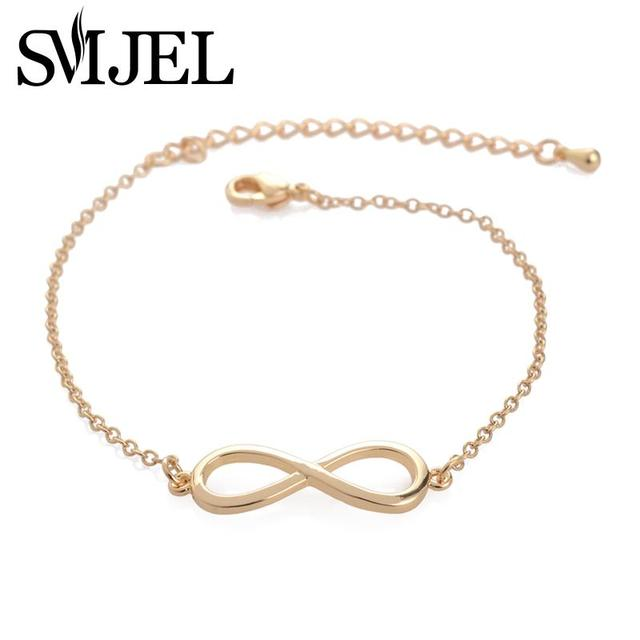 SMJEL Fashion Infinity Bracelet Femme Simple Love Bracelets for Women Bridesmaid Jewelry Gifts Pulseras mujer bijoux femme