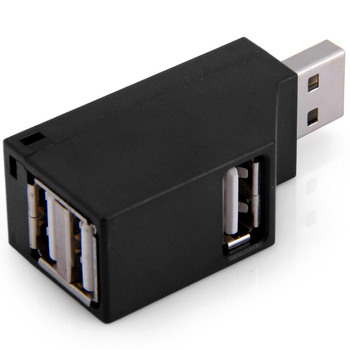 CY Black Color Vertical Type USB 2.0 3 Ports Hub Bus Power for Laptop  Notebook PC & Mouse & Flash Disk 1 pcs usb 3 0 20 pin 2 ports front panel floppy disk bay hub bracket cable