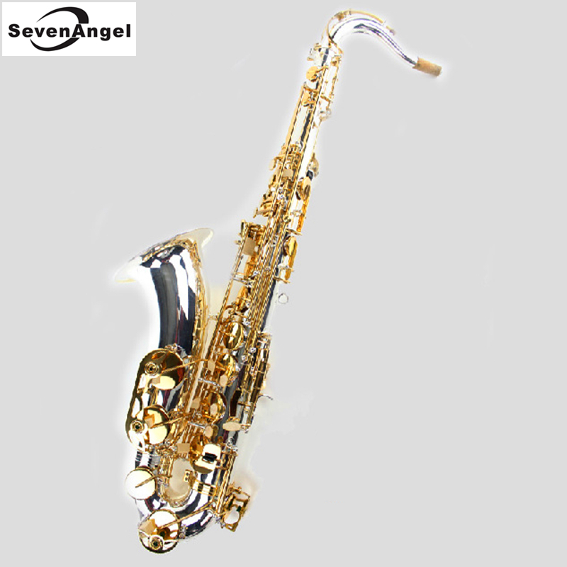 Tenor Saxophone Bb Sax Wind Instrument Silve & gold Surface Sax Western Instruments Tenor saxofone Musical Instruments saxophone black salmer 54 tenor sax b flat saxophone top musical instrument saxe wear resistant black nickel gold professional sax