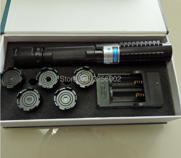 Most Powerful Military 200000m 450nm Blue Laser Pointers SOS Flashlight Burn Match Candle Lit Cigarette Wicked LAZER Torch
