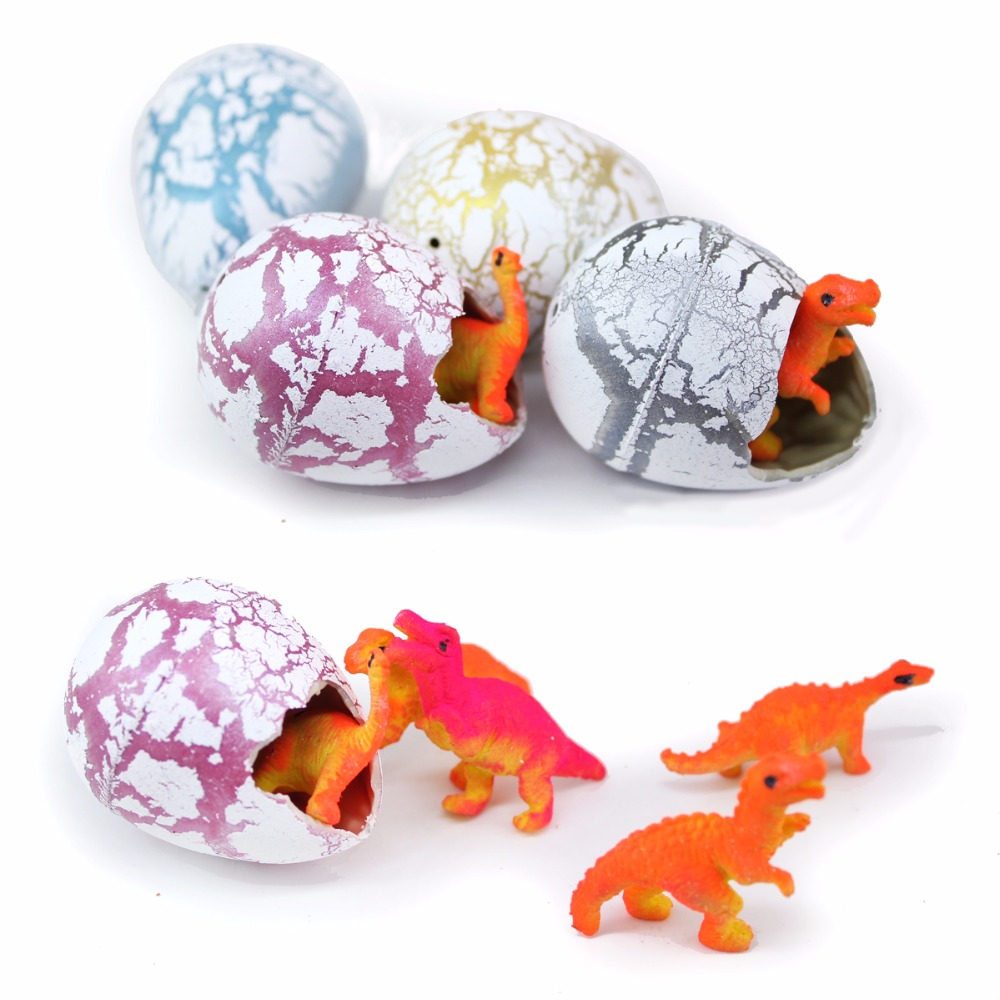 Wiben 30pcs/lot Novelty Gag Toys Children Toys Cute Magic Hatching Growing Dinosaur Eggs For Kids Educational Toys Gifts T003