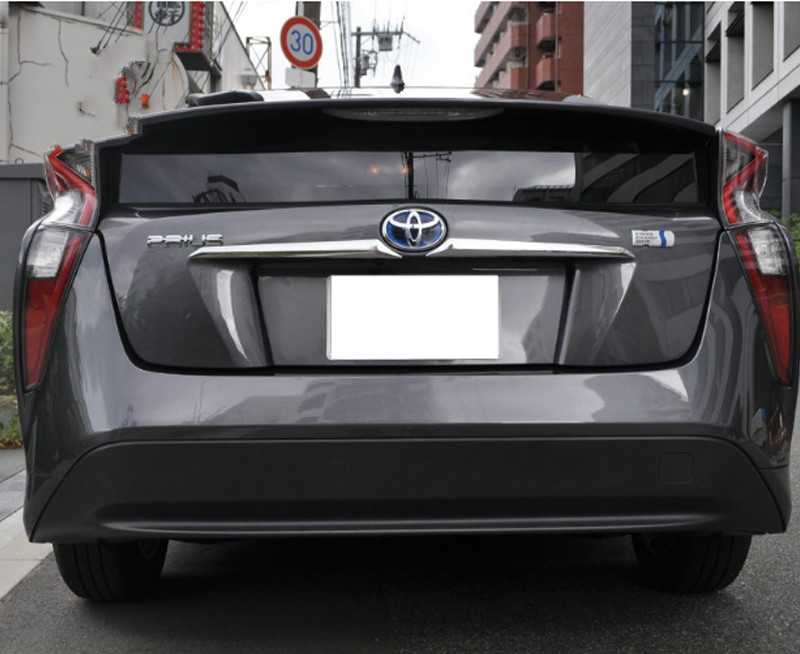 New Chrome Rear Trunk License Plate Trim for TOYOTA Prius Hatchback 2016 2017