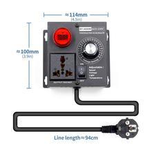 האיחוד האירופי Plug AC 220V 4000W SCR אלקטרוני מתח רגולטור טמפרטורת מנוע מאוורר מהירות בקר דימר חשמלי כלי מתכוונן