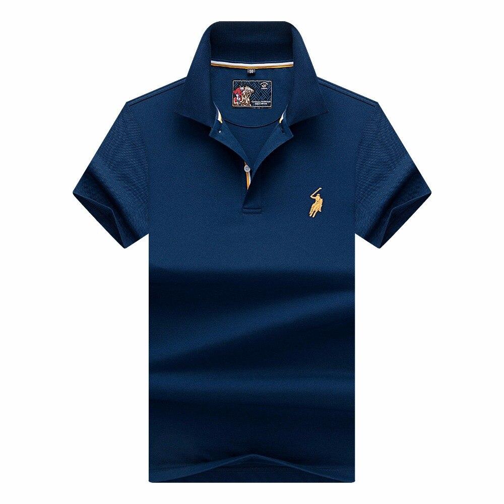 Nova marca Camisas Dos Homens do Polo de Moda Verão 2018 de Luxo bordado cavalo Respirável Camisa Masculina Dos Homens do Polo de Algodão Macio sólida