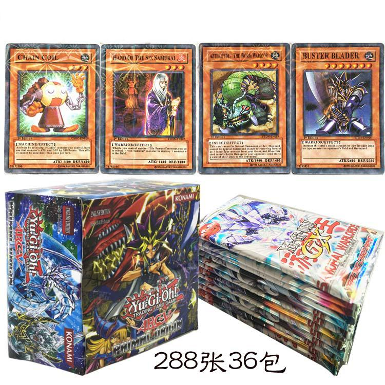288pcs/set Anime Japan Yu Gi Oh Game Cards Carton Yugioh Game Cards Japan Boy Girls Yu-Gi-Oh Cards Collection For Fun(China)