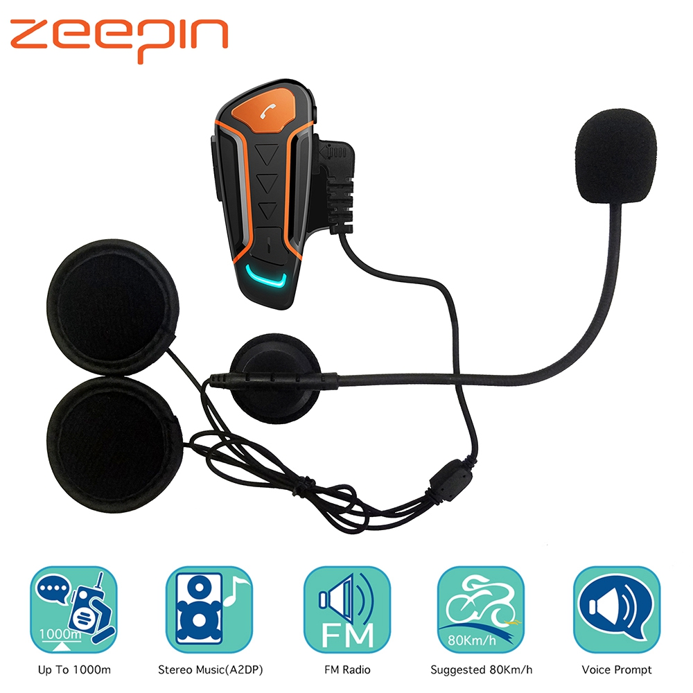1000 m Bluetooth Interphone Moto casque casques pour 3 cavalier BT sans fil talkie-walkie Moto stéréo Interphone MP3 GPS FM Radio