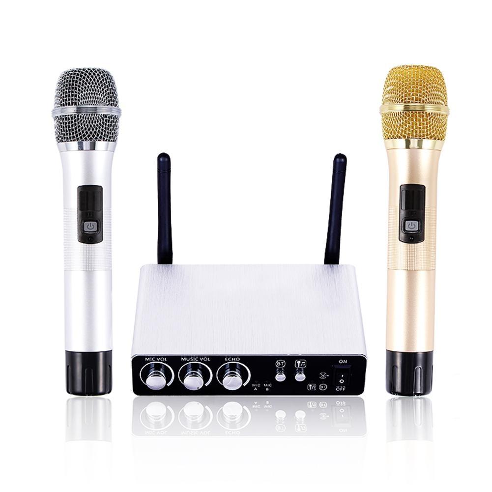 Écho réglable Volume Numérique Faible Distorsion K28 Double Canal Sans Fil Microphone De Scène Professionnel Système de Microphone Sans Fil