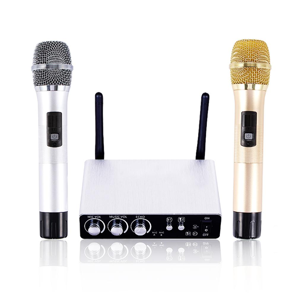 Regolabile Echo Volume Digitale A Bassa Distorsione K28 Senza Fili A Doppio Canale Microfono Fase Professionale Sistema per Microfono Wireless