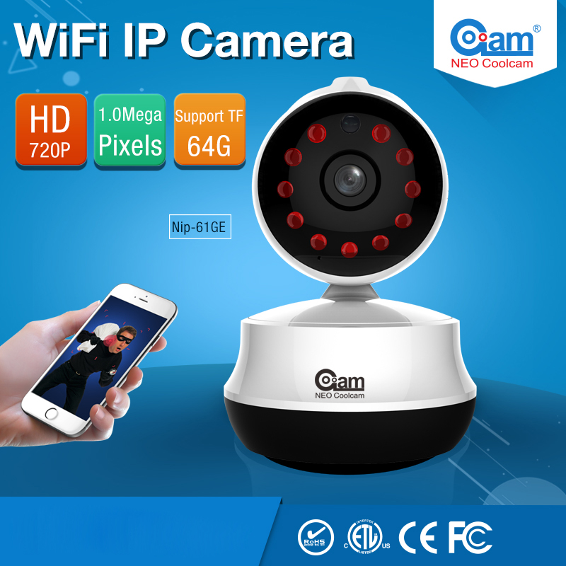 NIP-61GE Home Security IP Camera Wi-Fi 720P Wireless Mini Surveillance Camera Wifi 720P Night Vision CCTV Camera Baby Monitor