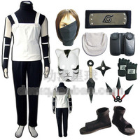Athemis Naruto Hatake Kakashi Action Figure Uniform Cosplay Costume Gloves Mask Props Headband Shoes Adult Children Free Express