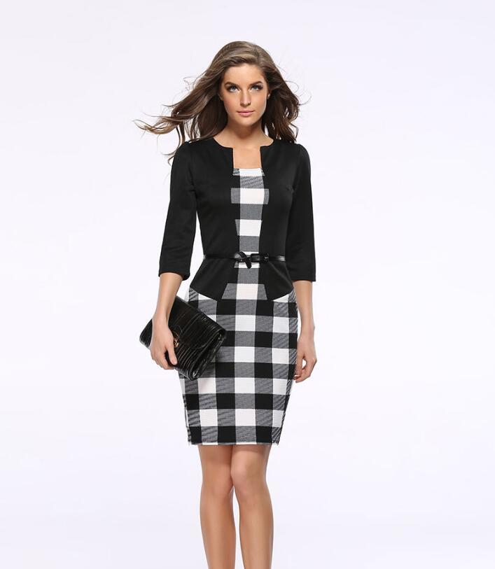 Two-piece Professional Women's Bag Hip Pencil Dress Gift Belt CJNSSYLY00427