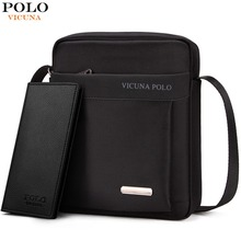 VICUNA POLO Durable Oxford Mens Crossbody Bag Promotion Casual Mens Shoulder Bags Black/Brown Leisure Brand Man Bag For iPad