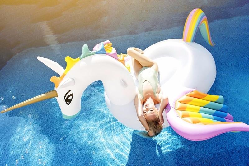 New Inflatable Rainbow Pegasus Unicorn Float