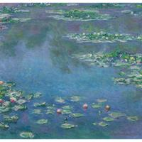 Handmade oil painting reproduction of Claude Monet High quality Water Lilies Morning Living room decor