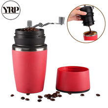 YRP Portable Manual Coffee Hand Grinder Tool Pressing Bottle Pot Maker Filter Cup for Outdoor
