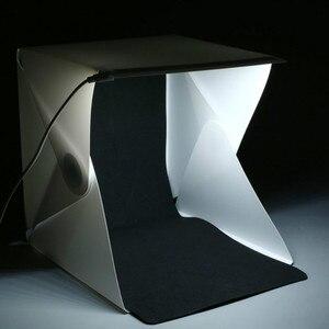 "Image 3 - Portable Folding 23cm/9"" Lightbox Photography LED Light Room Photo Studio Light Tent Soft Box Backdrops for Digital DSLR Camera"