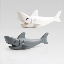 Lolede Block Brick Diy Zoo Animal Shark Big Particle Building Blocks Kids Baby Bath Toys Compatible with Duplo Gift(China)