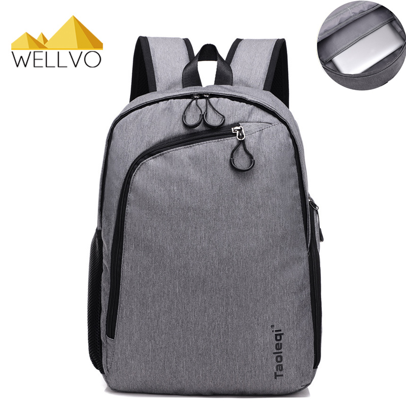Wellvo Men Canvas Laptop Backpack Large Black School Bag For Teenage Boys Students Notebook Backpacks Travel Bags Mochila XA38C цена 2017