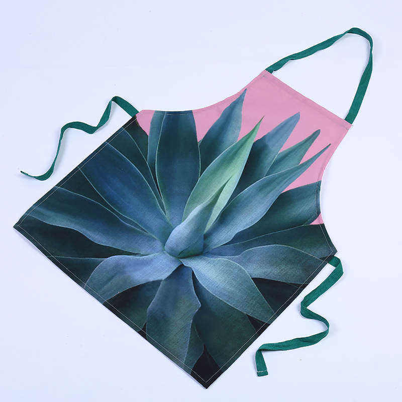 DoreenBeads Canvas Apron Kitchen Cooking Waist Antifouling Sleeveless Apron Rainforest Cactus Monster Aloe Letters 5 Styles 1PC