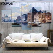 Venice Diy Painting Abstract Poster Vintage Towns Home Decor Wall Oil Paint Art Paintings By Numbers with Acrylic Paints Poster freeshipping windsor newton 473ml resin painting material base oil painting acrylic loose bottom material acrylic medium paints