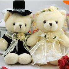 15 см 2 шт./лот мягкие куклы пара медведей Свадебный плюшевый свадебный подарок плюшевые игрушки