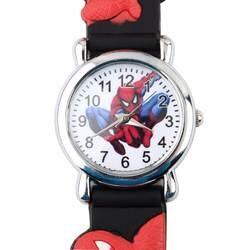 Спортивные детские часы с рисунком паука модные крутые 3D резиновые часы синий мальчик малыш Аналоговые кварцевые наручные часы Enfant Relogio