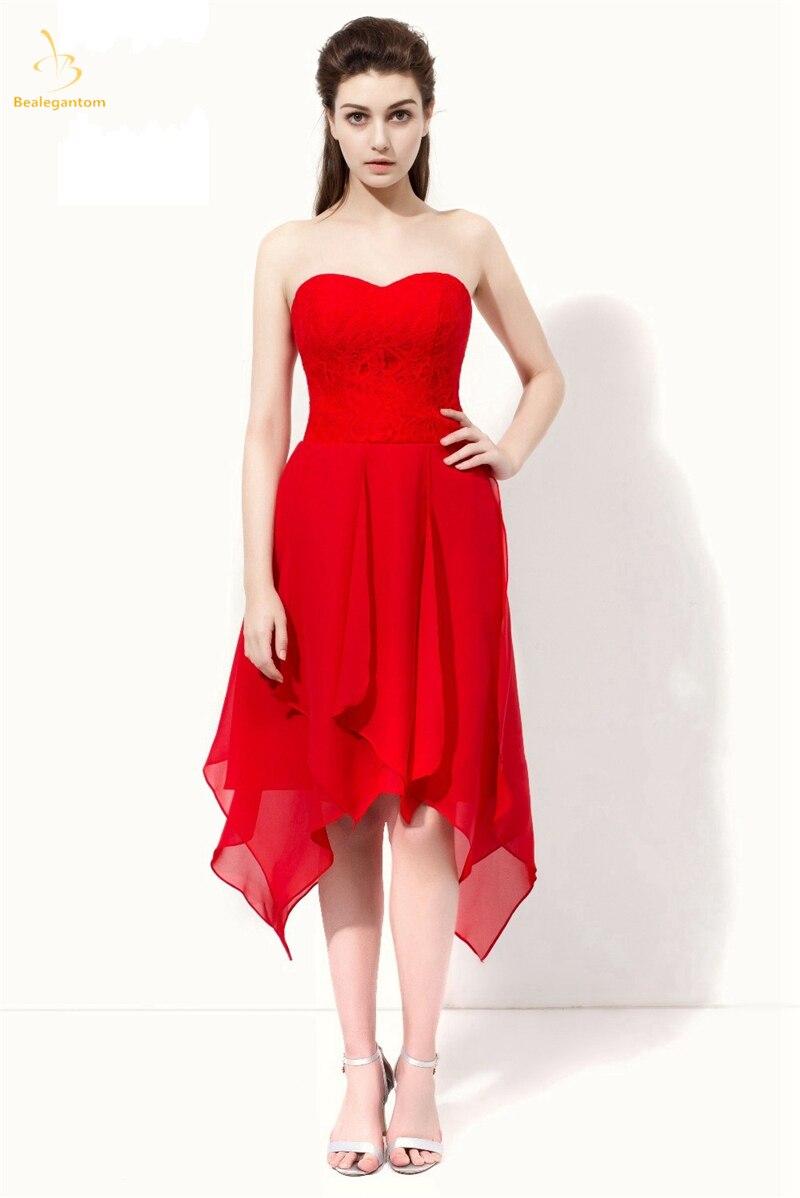 Red Lace JVNX by Jovani Short Party Dress - PromGirl