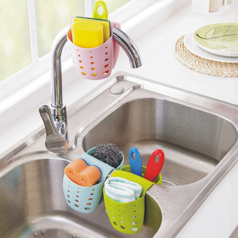Buy Pvc Sink Storage Holders Racks Bathroom Kitchen Cleaning Scouring Pad