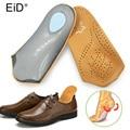 EID 3/4 longitud Plantilla de cuero pie plano ortopédicos plantillas soporte de arco 2,5 cm zapatos ortopédicos el cuidado del pie plantillas