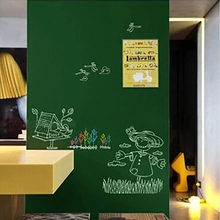 Free shipping New Creative 60x200cm Chalk Board Blackboard Vinyl Draw Chalkboard Green wall sticker office supplies
