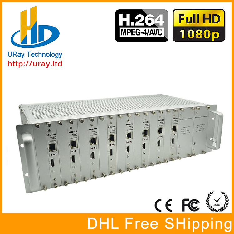 Free Shipping 3U Chassis 8 Channels HDMI Video Audio Encoder H.264 IPTV HD Encoder Hardware With HTTP /RTSP /RTMP /UDP Protocol
