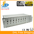 Frete Grátis Chassis 3U 8 Canais de Áudio e Vídeo HDMI Encoder H.264 IPTV HD Codificador de Hardware Com HTTP/RTSP/RTMP/UDP protocolo