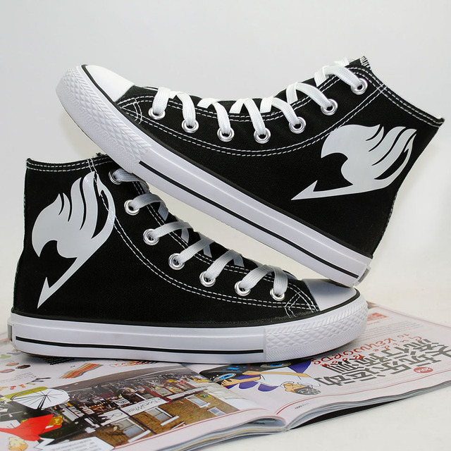 Fairy Tail Luminous Hand Painted Canvas Shoes