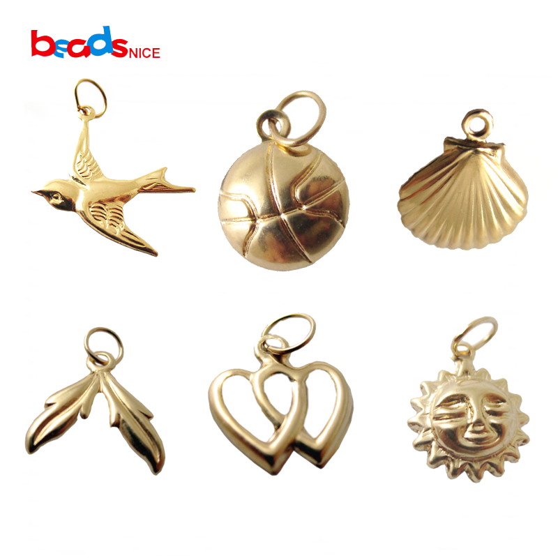 Beadsnice 14k Gold Filled Charm for Necklace Making Craft Supplies Bracelet Pendant 25928 in Jewelry Findings Components from Jewelry Accessories
