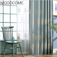 Curtains for Living dining room bedroom The tree of modern minimalist embroidered curtains bedroom study curtain E