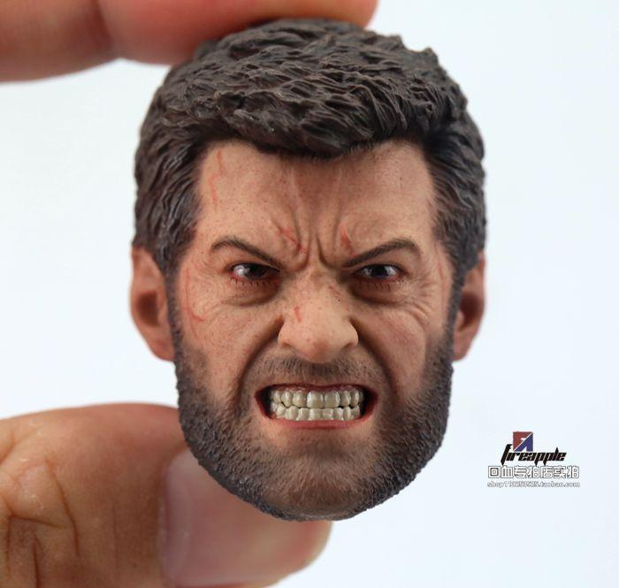 "1//6 Scale Angry Logan Wolverine Head Sculpt Hugh Jackman For 12/"" Figure U.S.A."