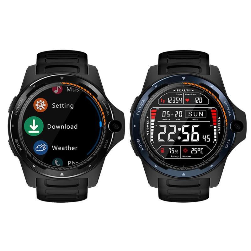 Zeblaze Thor 5 montre intelligente 1.39 pouces podomètre moniteur de fréquence cardiaque montre avec 8MP caméra 2G + 16G Smartwatch Support réseau 4G