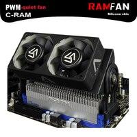 ALSEYE pamięci RAM DDR do komputera wentylator Chłodnicy chłodzenia chłodnicy z podwójnym 60mm wentylator PWM 1500-4000 RPM chłodnica dla DDR2/3/4 chłodzenia