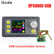 цена на DPS8005 LCD Digital Programmable Constant Voltage Current Step-down Power Supply Module Buck Converter DC 80V 5A +USB