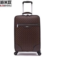Fashion Leather PVC Men Women Rolling Luggage Suitcase Designer 16/20/22/24 Inches High Quality 4 Wheels Spinner Airport Luggage