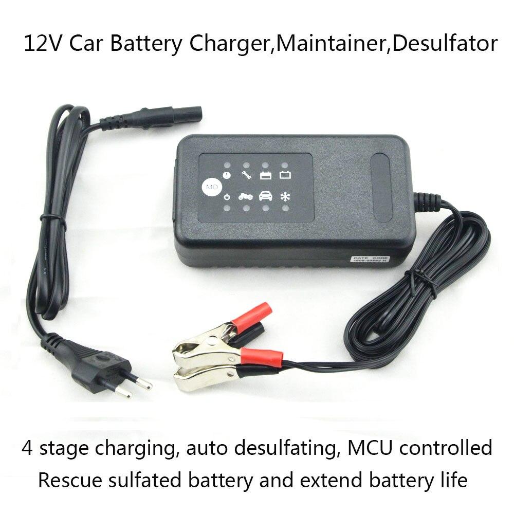 12v sla gel agm vrla battery charger 4 stage charging desulfating function for 12v lead acid