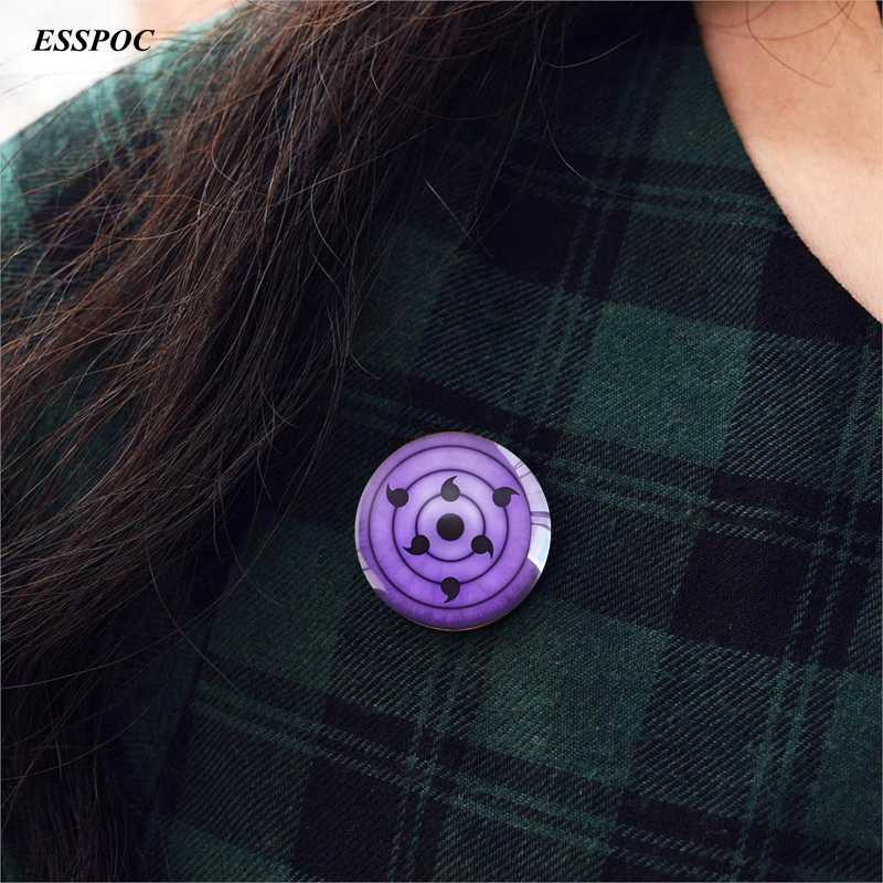 Rinnegan Ogen Naruto Anime Badge Vintage Brons Broche Pin Sieraden Naruto Cosplay Gift