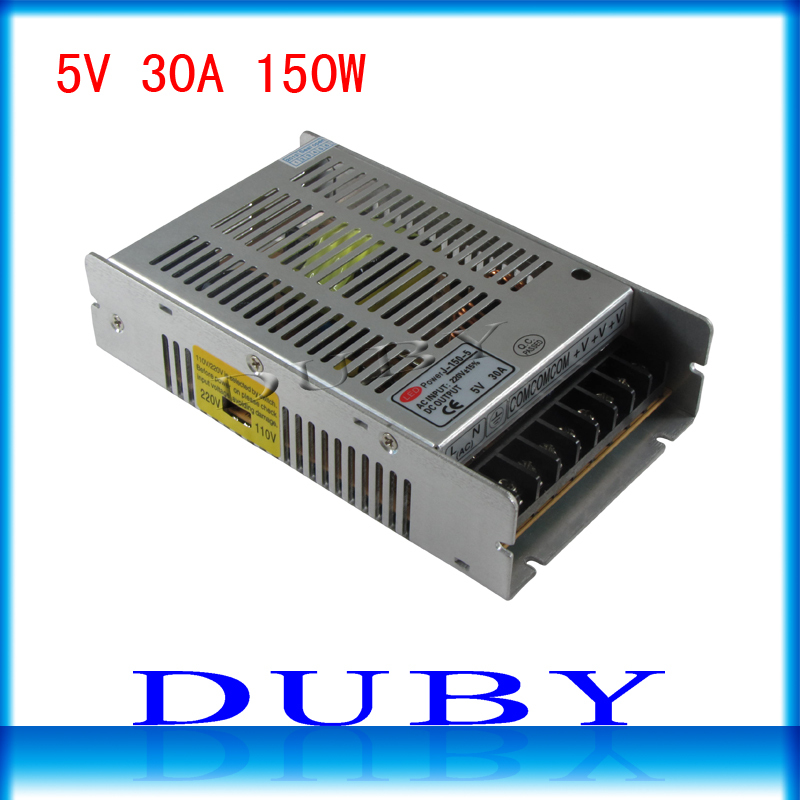 New model 5V 30A 150W Switching power supply Driver For LED Light Strip Display AC100-240V Factory Supplier Free Shipping ac 85v 265v to 20 38v 600ma power supply driver adapter for led light lamp