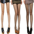La moda mallas Sexy panti mujeres Mesh Stocking recorte mallas medias panti
