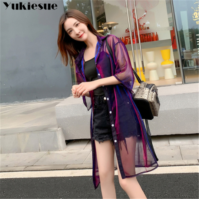 2019 summer women's shirt blouse for women blusas woman womens tops and blouses mujer lace mesh shirts ladie's top plus size 1