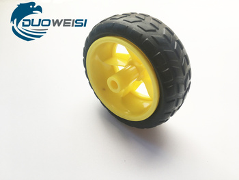 65MM Rubber wheels / robots / Tracing line inspection car accessories smart car tire chassis wheels image